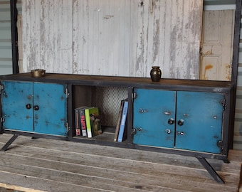 industrial furniture type row wood and steel