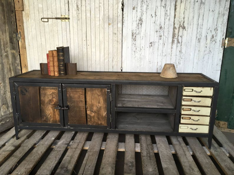 Row Of Industrial Style Furniture Etsy