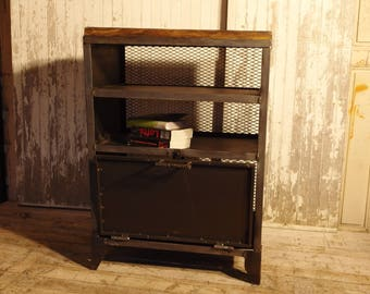 industrial furniture confiturier wood and steel