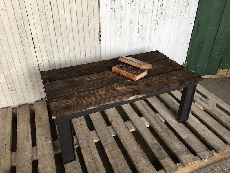 Steel and raw wood ip coffee table image 0
