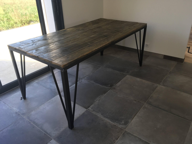 Industriel Table Basse Palette furniture table industrial ref mickaela