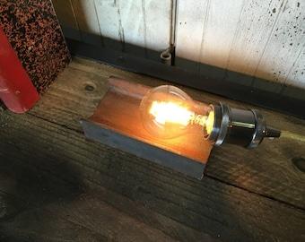 Table lamp light steel