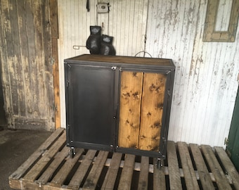 Industrial furniture wood and steel raw 5thdeco