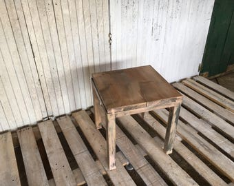 Wood and steel coffee table