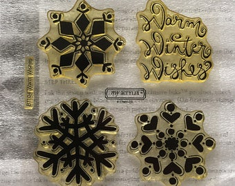 Warm Wishes Acrylic Stamp Set