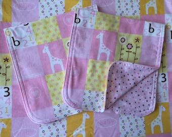 ABC 123 Baby Blanket & Burp Cloth Set