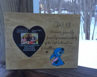 Disney Lilo and stitch wooden frame