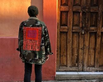 Tribal jacket with Mola