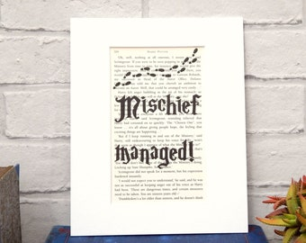 photo about Harry Potter Marauders Map Printable named Marauders map print Etsy