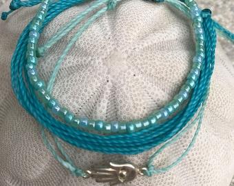 Cord Bracelet; Adjustable Friendship Bracelet; Charm Bracelet