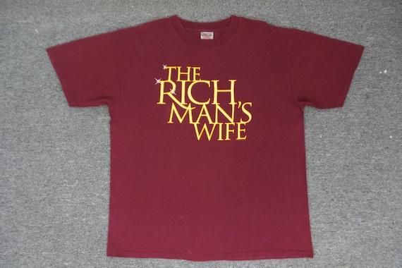 Oneita T-shirt VINTAGE 90s Oneita 'The Rich Man's
