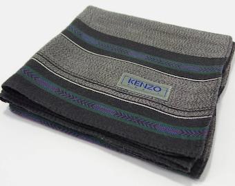 Kenzo Handkerchief VINTAGE Kenzo Paris Stripe Design Handkerchief