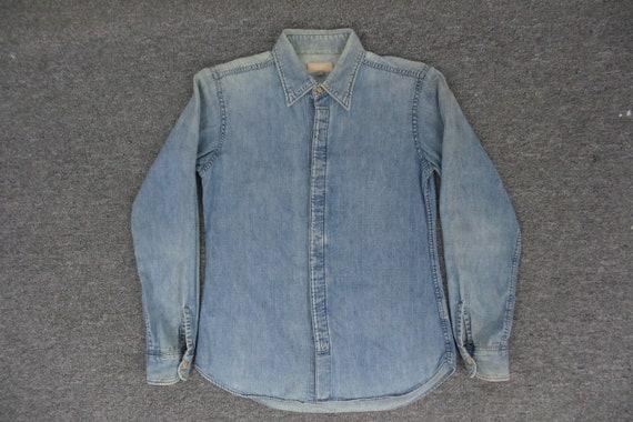 45rpm Shirt VINTAGE 45rpm Denim Shirt Made In Japa