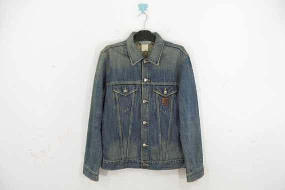 Carhartt Jacket VINTAGE Carhartt Denim Jacket Made