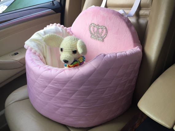 Ar Seat Car For Dogs Cats Pink