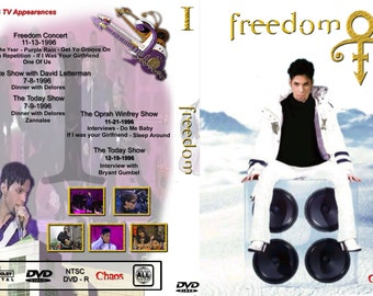 PRINCE FREEDOM VOL 1-3 3 dvdr set (Emancipation era tv performances 1996-1997)