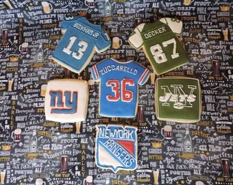 New York Jets & New York Giants Cookies (MINIMUM QUANTITY 12)