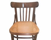 Thonet Bentwood and Cane Chair. Romania, MCM Chair, Thonet, Cane, Bentwood,