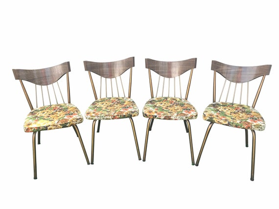 Vintage MCM Howell Modern Metal Furniture Kitchen Chairs 1960\'s set of 4