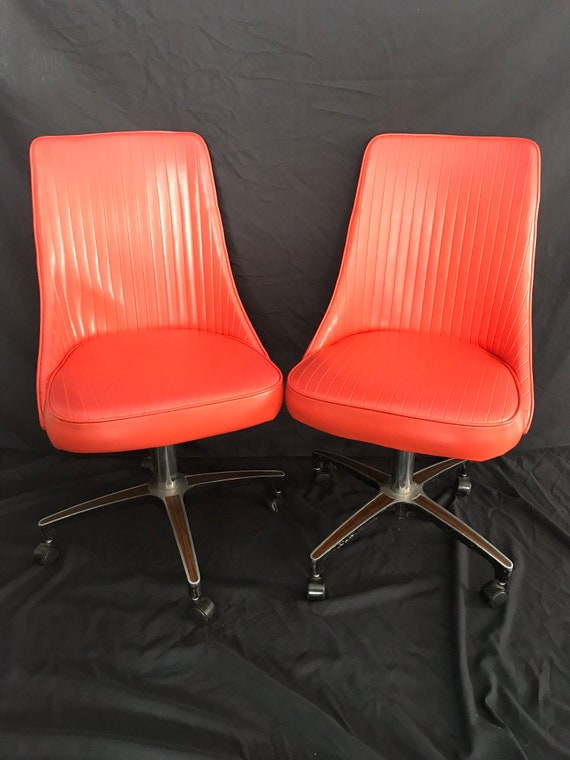 Tremendous Sold Mid Century Modern Chromcraft Swivel Chair On Casters Machost Co Dining Chair Design Ideas Machostcouk