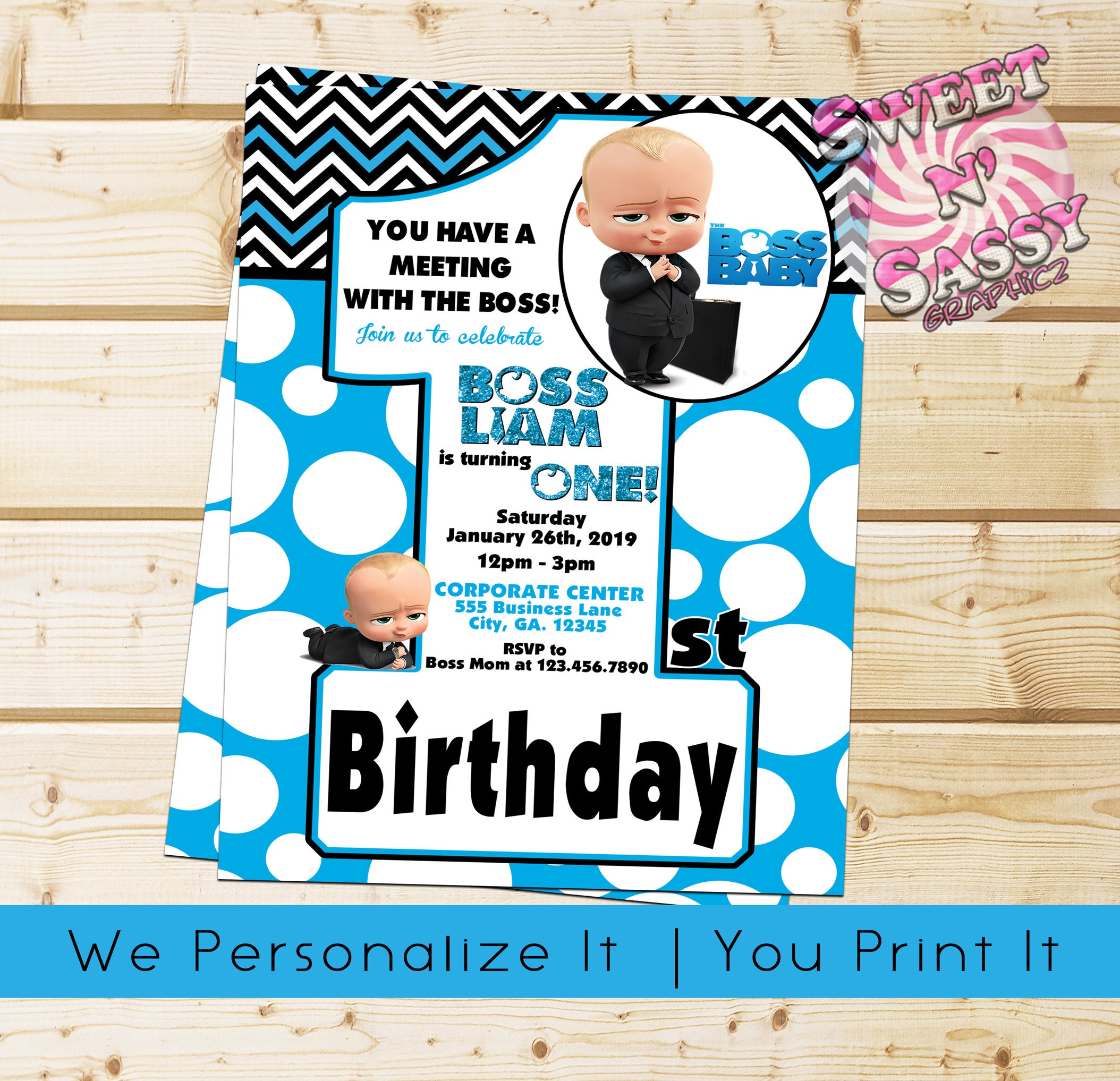 The Boss Baby Birthday Invitation Number Etsy Staci Invitations Template Jpg 2108x2035