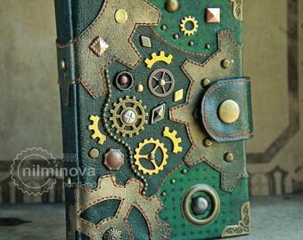 "Mechanical engineer gift for son Blank Journal for dad Steampunk diary vegan notebook A6 Geek boyfriend gift graduation ""Mechanical potion"""