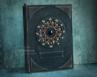 Personalized journal Astrology Sign Wicca book of shadows Zodiac journal Astronomy gifts Occult book Witch spell book Alchemy Witch journal
