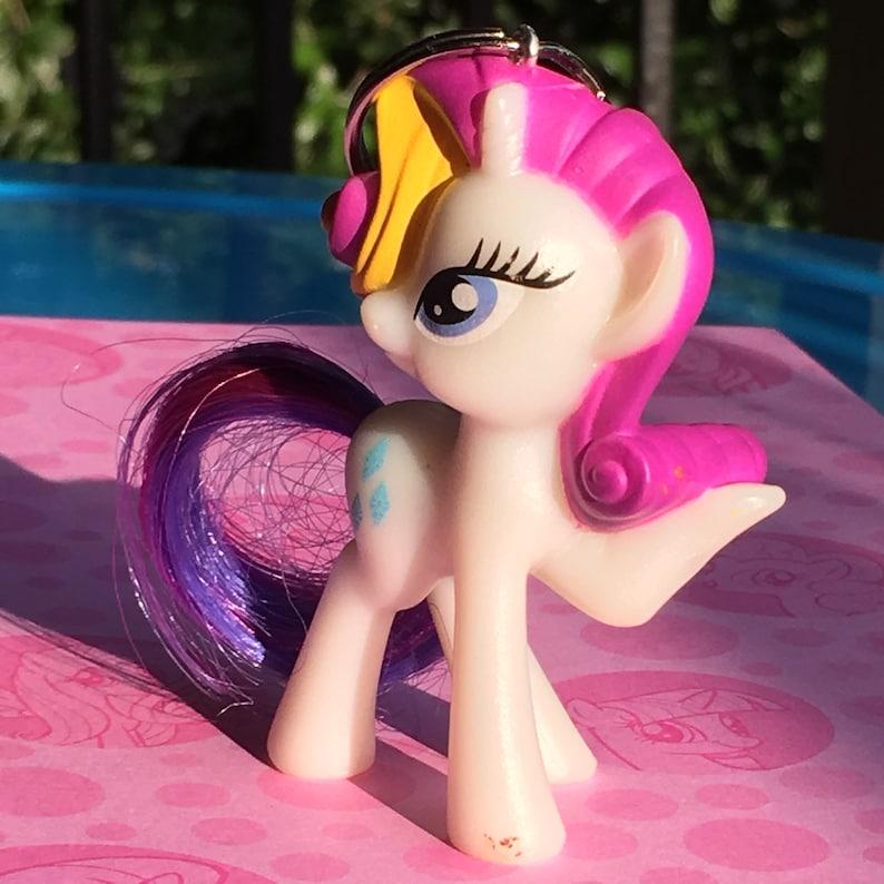 My Little Pony RARITY Unicorn G4 Friendship Magic Zipper Key Diva Diamond  Clip Pull Fashion BAG CHARM FiM Gem mlp Keychain Fancy Accessory
