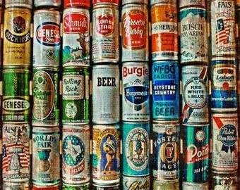 Texas Beer Can Collection image can be printed square, horizontal or tall