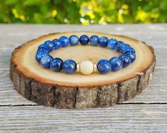 Third Eye Bracelet - Sex Appeal Bracelet, Kyanite, Gold Filled Bead