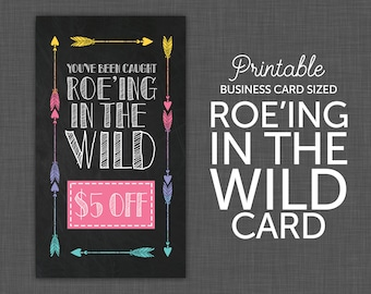 Roe-ing in the Wild Card, Wild Card, You've Been Caught, Gift Certificate, Chalkboard