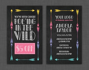 Roe-ing in the Wild Card, Wild Card, You've Been Caught, Gift Certificate, Chalkboard - Custom