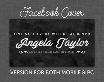 Facebook Cover, Facebook Timeline, Facebook Chalkboard, Facebook Black - Custom - Personalized