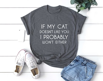 cat print shirt size XS S M L crazy cat lady funny cat tshirts gifts kitten shirt meow cat lover gifts Cat shirt cat graphic tee