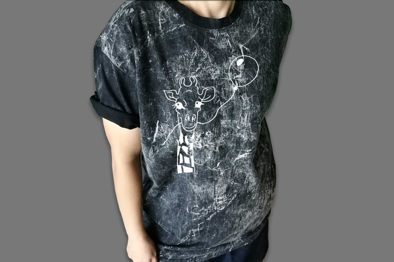 848304946681e Tumblr bleached shirt giraffe t shirt womens vintage grunge inspired mens  animal printed tees clothes size XS S M L