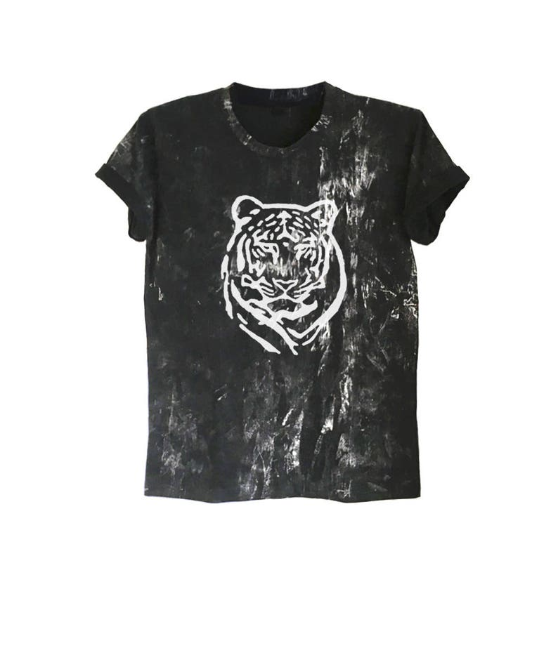 e5535028b9607 Tiger shirt bengal tiger t shirt tie dye tee bleached shirt grunge style  tumblr animal shirts gift clothes size XS S M L