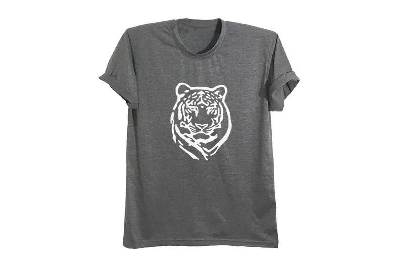 af1a68bf9b42e Tiger print shirt leopard bengal tiger t shirt women tops clothing mens  animal tees wildlife t shirts size XS S M L