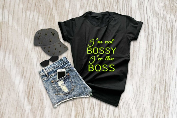 """New Ladies Designer /""""I/'m Not Bossy/"""" Grey Printed T-shirt 100/% Cotton All Sizes"""