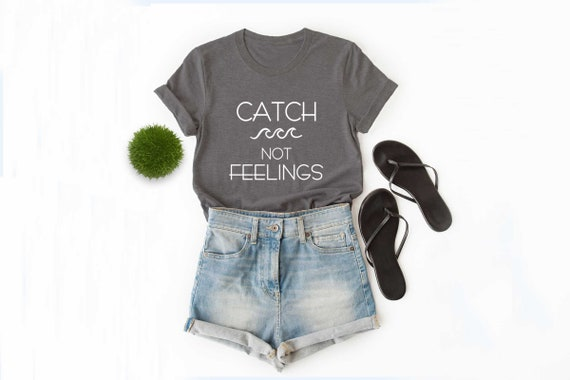 346a556bdf4 Unisex catch waves not feelings tumblr shirt travel tshirt | Etsy