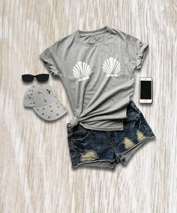 e62dab23cd122 Mermaid bra shirt mermaid party tshirt mermaid costume top