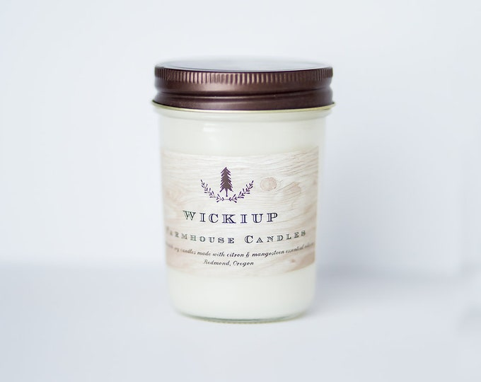 Wickiup Soy Wax Candle//Citrus and grapefruit essential oil candle// All-natural candle//Farmhouse decor//summer candle//spring candle//