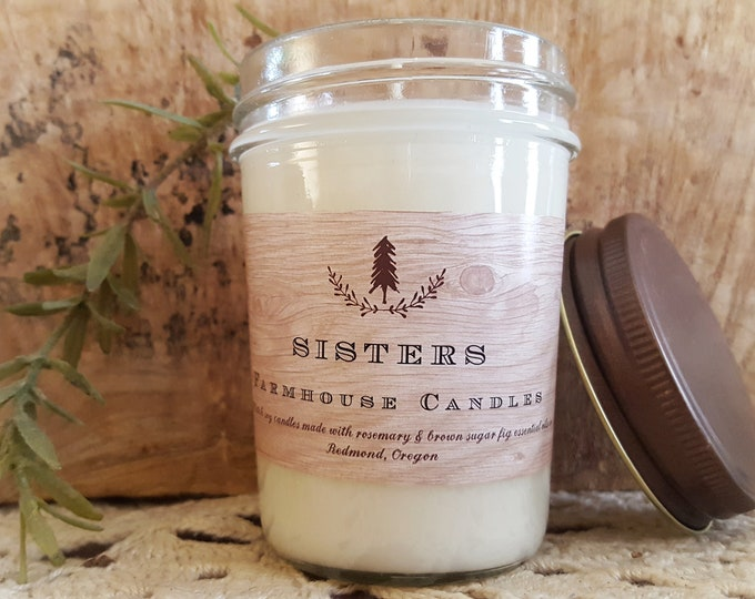 Farmhouse Sisters candle//All-Natural Soy candle// Farmhouse Decor// Essential oil Candle