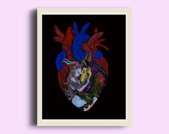 A Place In My Heart- UV Lit fine art print
