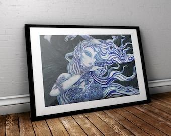 Night Goddess, Fine art print