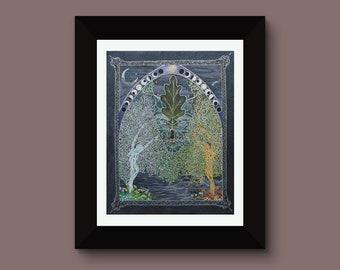 Gate at the Veil of Shadows, Fine art print