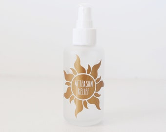 100ml Aftersun Decal // vinyl decal // essential oil // vinyl labels // custom labels // oil labels // doterra // essential oil bottle