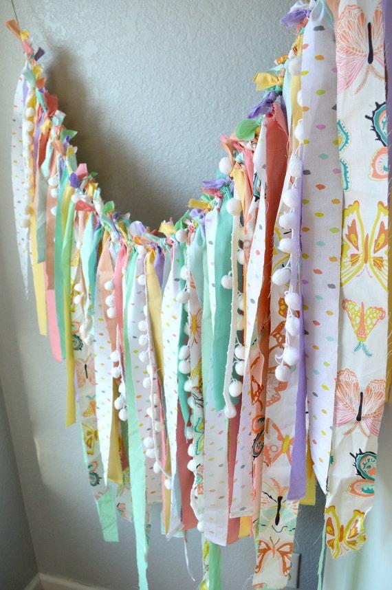 Chutes de tissu bannière, bannière Pastel, Photo Prop bannière ...