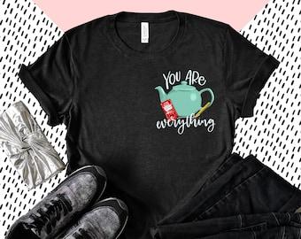 Pam's Teapot Short-Sleeve Unisex T-Shirt, The Office Shirt, Pam and Jim