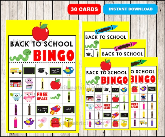 image about Back to School Bingo Printable identified as College Bingo Printable Match - 30 option Playing cards - Back again towards College - Celebration Video game Printable - Memory Video game - Instantaneous Obtain