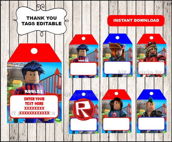 Roblox Thank You Tags Instant Download Roblox Thank You Etsy